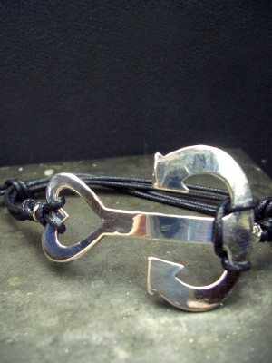 Bracciale in argento e cavetto