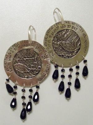 Orecchini in argento e onice