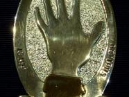Medaglione commemorativo in argento ed oro